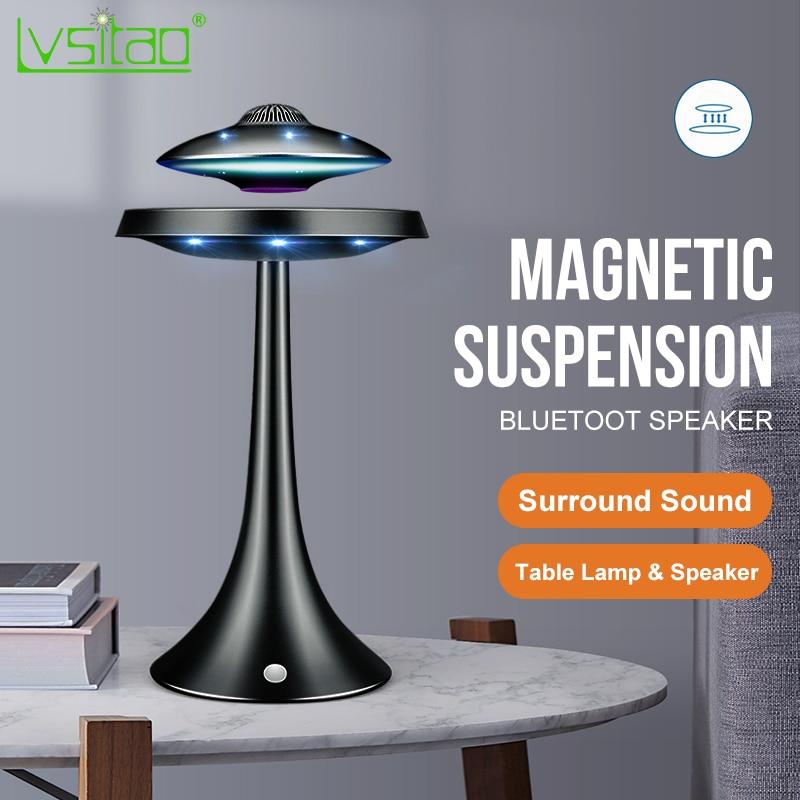 Lámpara de mesa led levitante de suspensión magnética con altavoz UFO bluetooth sonido envolvente BT altavoz regalos creativos luces nocturnas
