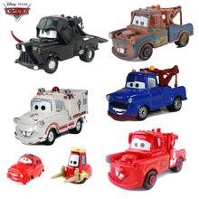 Original de Disney Pixar coches 3 2, Rayo McQueen rojo azul Mater Jackson tormenta cosechadora de Metal FUNDICIÓN coche regalo de Juguetes