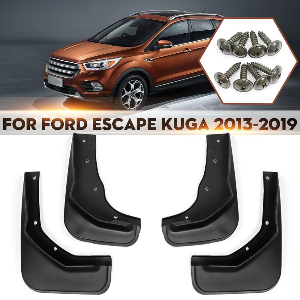 4Pcs Car Front /& Rear Splasher Splash Guard Mud Flap For Ford Escape 2018