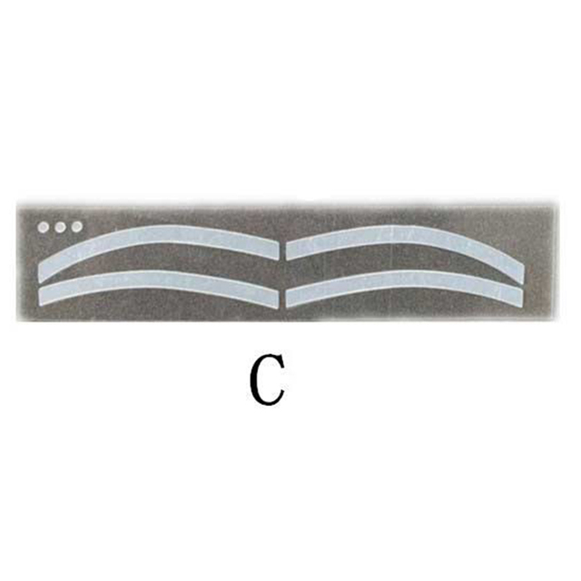 6Pairs Professinal Fashion Disposable Eyebrow Tattoo Shaping Sticker Auxiliary Template Brow Stencil Eye Grooming Makeup Tools 5