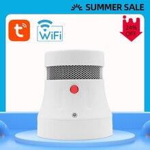 CPVAN Fire Detector WiFi Smoke Detector Alarm Tuya APP Control Smart Smoke Sensor Alarm Fire Protection Home Security System