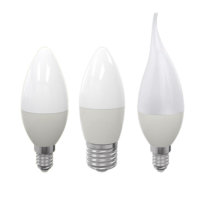 E14 E27 B22 LED Candle Bulb AC 220V Led Light Chandelier Lamp Candle Bulbs 7W Lamps Decoration Light Warm/White Energy Saving