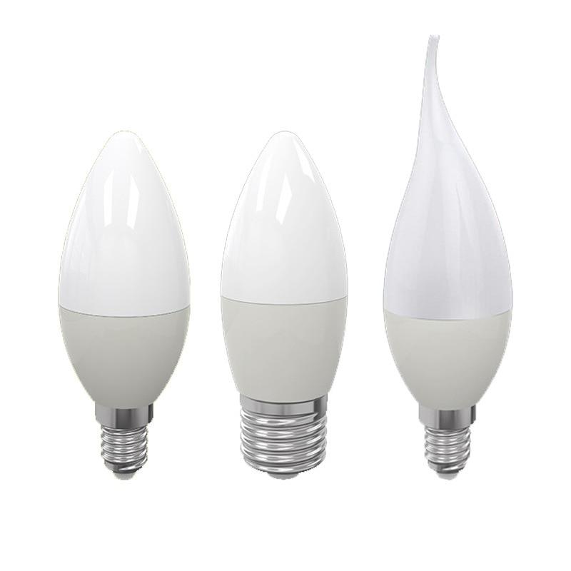 E14 E27 B22 LED Candle Bulb AC 220V Led Light Chandelier Lamp Candle Bulbs 7W Lamps Decoration Light Warm/White Energy Saving
