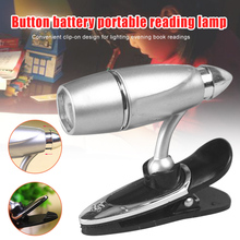 Clip on Book Reading LED Light Portable Small Table Lamp Adjustable Flashlight CLH@8