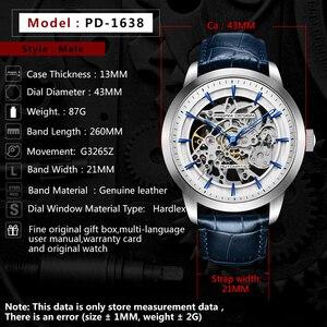 Image 3 - 2020 PAGANI تصميم العلامة التجارية موضة جلدية ساعة ذهبية الرجال التلقائي الميكانيكية الهيكل العظمي مقاوم للماء الساعات Relogio Masculino صندوق