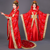 Women Tang Dynasty Costume Suit Cosplay Fairy Dress Set Ancient Long Tail Chinese Traditional Clothing for Women D69