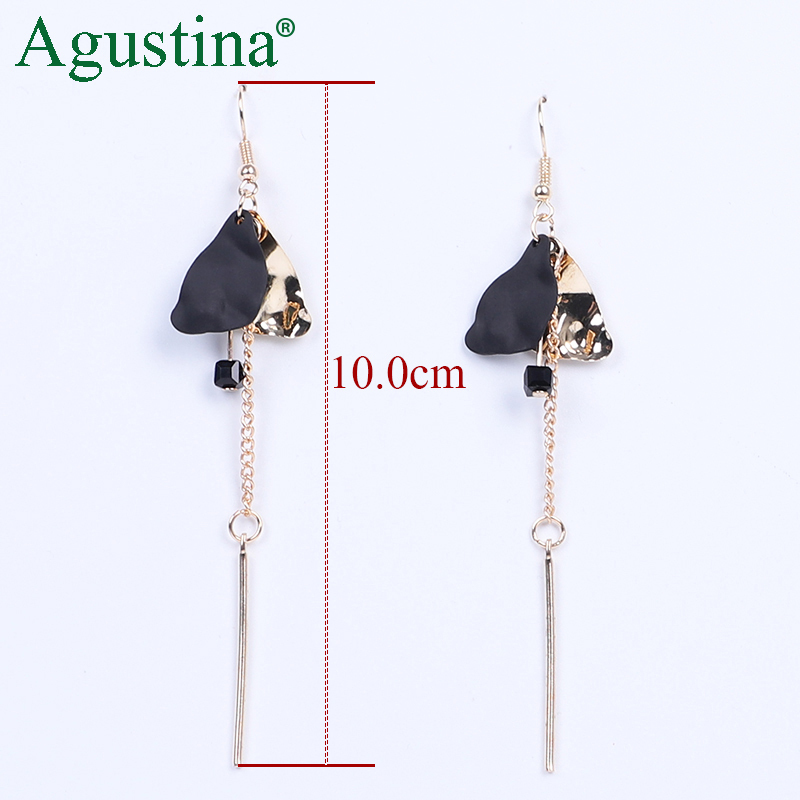 H22ced00e79d540cdbee8da30077f98e5M - Agustina 2020 Fashion Earrings Jewelry Women Bohemian Metal Drop Earrings Cute Red/Pink/Blue Earrings Statement Korean Wholesale