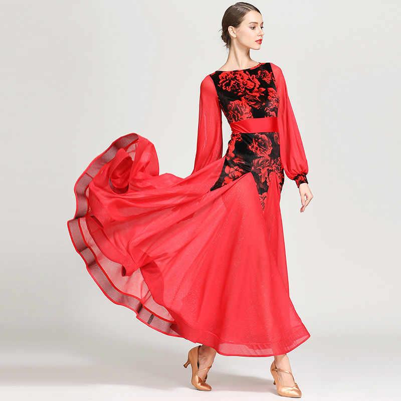 Современный танцевальный костюм для женщин и взрослых танцевальная одежда вальцинг Танго танцевальное Платье Бальный костюм вечернее платье