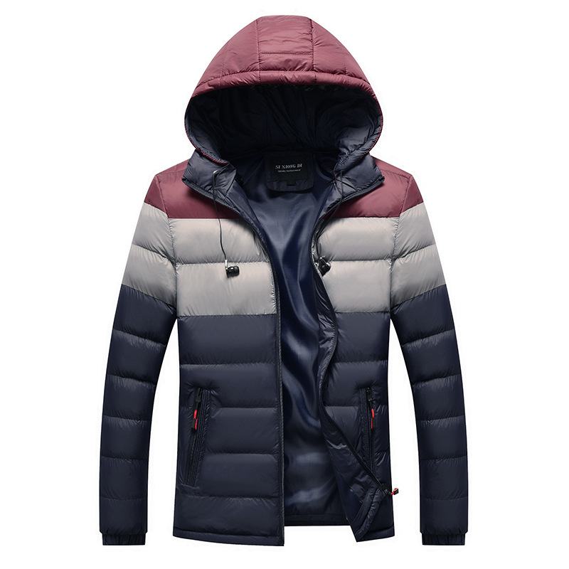 Men 2019 Winter Brand New Casual Warm Thick Fleece Jacket   Parkas   Men New Luxury Outwear Windproof Waterproof Hat   Parkas   Coat Men