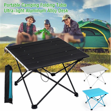 Folding-Table Camping-Desk Outdoor Barbecue Aluminum-Alloy Hiking Mini