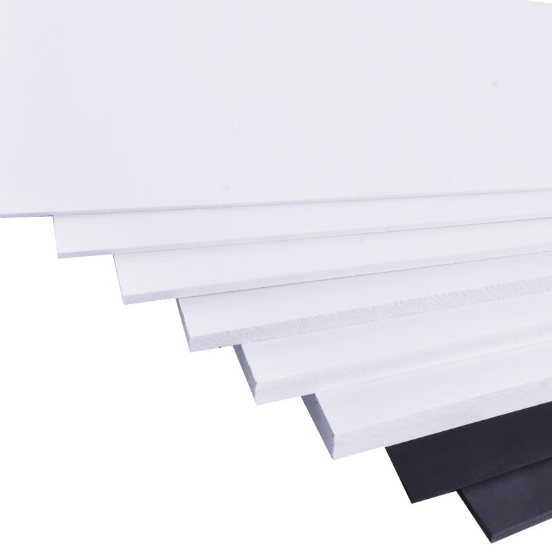 1pcs PVC Foam Board Plastic Model Pvc Foam Sheet Board White Foamboadrd Model Plate 2mm 3mm 5mm 8mm Thickness