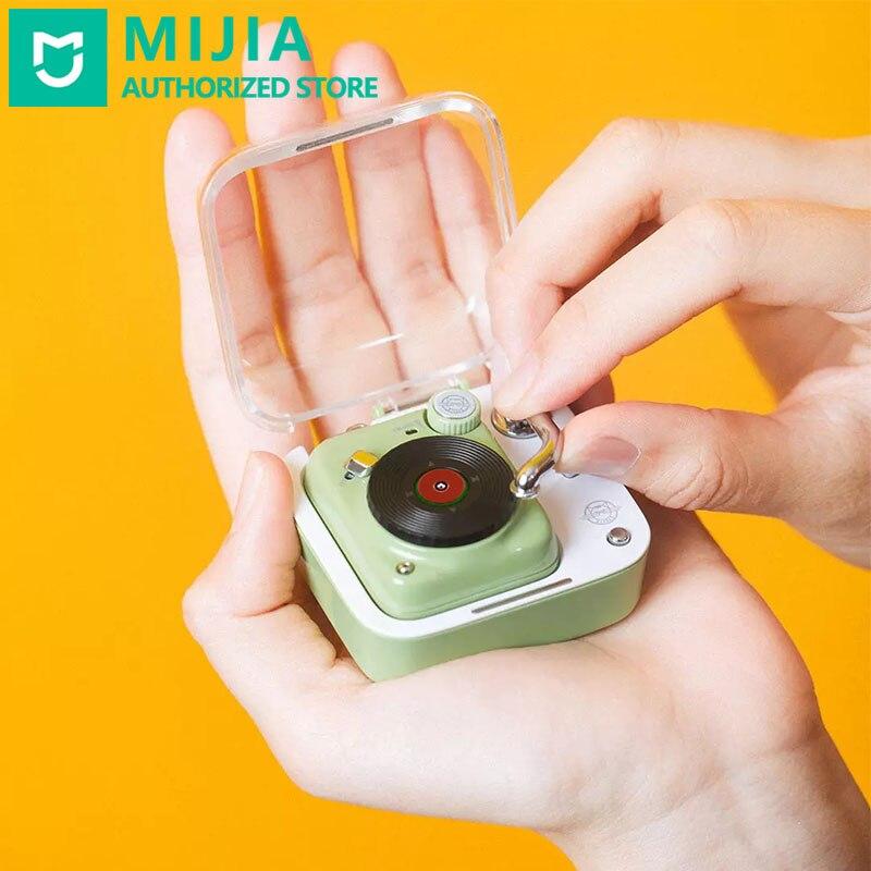 Fones de Ouvido sem Fio Caixa de Carregamento Xiaomi Mijia Elvis Rádio Bluetooth 4.2 Vinil Registro Portátil Música Player Interação Voz