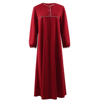 Cossky Janet Hodgson Cosplay Costume Red Dress Women Sleepwear Nightgown image