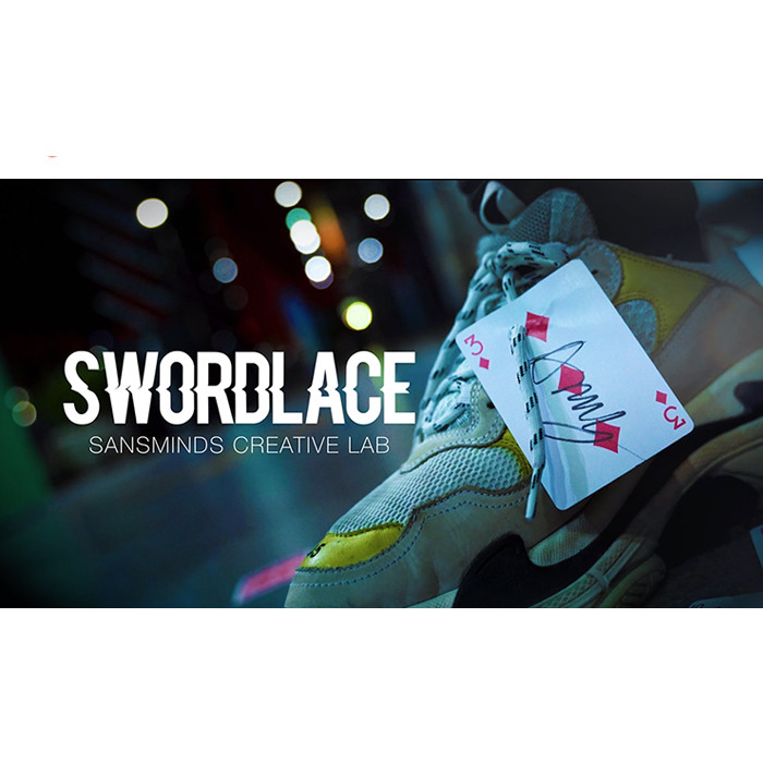 Pro Series: Swordlace White (DVD And Gimmick) By SansMinds Creative Lab Illusions Magic Tricks Close Up Magic Street Bar Trick