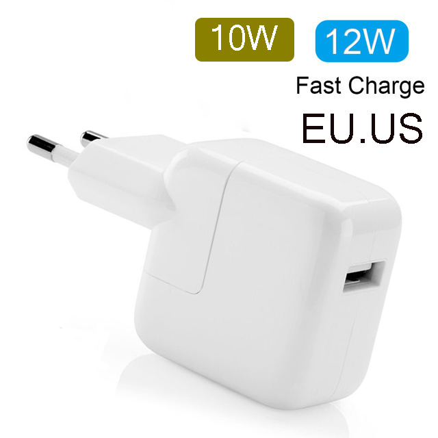 2.4A Fast Charging 12W USB Power Adapter Phone Travel Home Charger For IPhone XS 8 Plus 7 6S 11 IPad Mini Air For Euro EU US