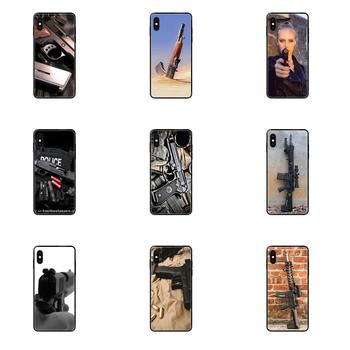 Slim Silicone Case For Samsung Galaxy Note 4 8 9 10 20 Plus Pro Ultra J6 J7 J8 M30s M80s 2017 2018 Assaultrifle AK 47 AK47 M16 image