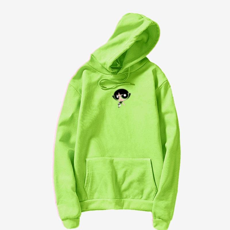 Anime Buttercup Girls Hoodie Cosplay Daily Outwear  Cartoon Casual  Hip-Hop Cute Girls  Women Sweatshirt Jacket