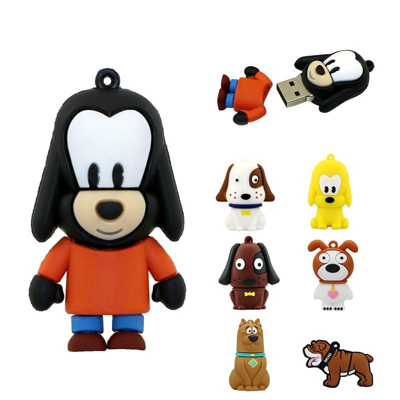 Hot Sale USB Flash Drive Dog Pen Drive 128gb 64gb 4gb 256 Gb 32GB 16GB 8GB Pendrive Memory Stick U Disk Lovely Animal Gift