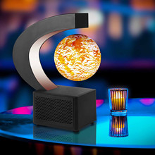 Bluetooth Speaker Magnetic Levitation Sound Stereo Round Led Cool Star Lamp Best Holiday Gift 3d Fashion Floating Globe Us Plug#