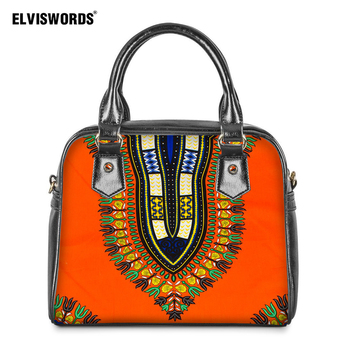 ELVISWORDS Vintage African Shoulder Bag Women's Bag Travel Luxury Designer Handbag for Woman Ladies Crossbody Hand Tote Bags