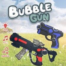 Kid Toy Mini Projection Bubble Gun USB Charging Bubbles Blower Machine Funny Bath Music Toys Electric Automatic Bubble Maker