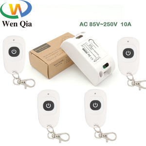 433 МГц AC 220 В пульт дистанционного управления 10Amp 2200 Вт 1CH релейный приемник и передатчик переключатель для освещения лампы светодиодный и дв...