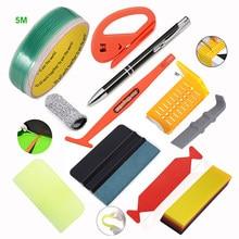 FOSHIO Car Vinyl Wrapping Film Cut Knifeless Tape Carbon Fiber Sticker Wrap Window Tint PPF Squeegee Scraper Gloves Tools Kit