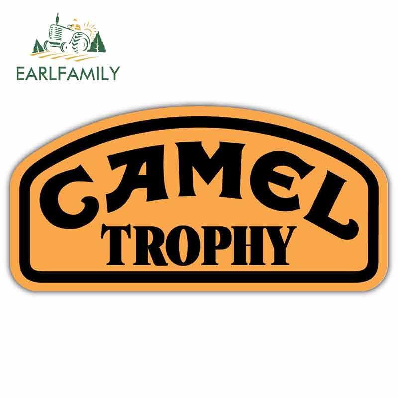 EARLFAMILY 13cm X 6.7cm Car Styling Camel Trophy Car Bumper Sticker Window Decal Vinyl Car Stickers