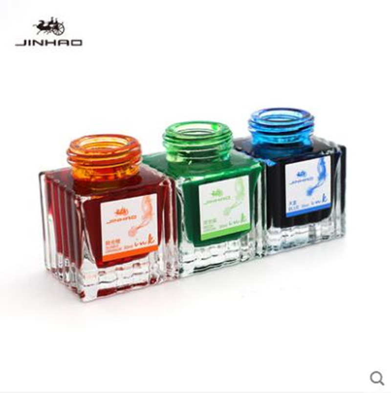 Jinhao 30ML Universal Black Blue Fountain Pen Ink Color Cartridges Refills School Office Stationery