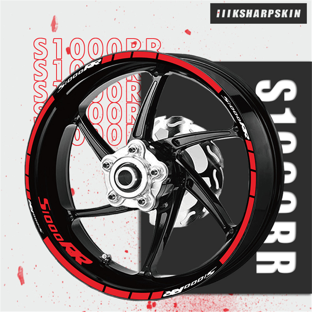 Motorcycle Sticker Wheel Sticker New Racing Wheel Foil For BMW S1000RR S 1000RR S1000 RR