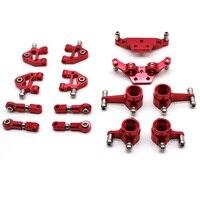 Peças de atualização de metal conjunto completo para wltoys 1/28 p929 p939 k979 k989 k999 k969 peças de carro rc  vermelho
