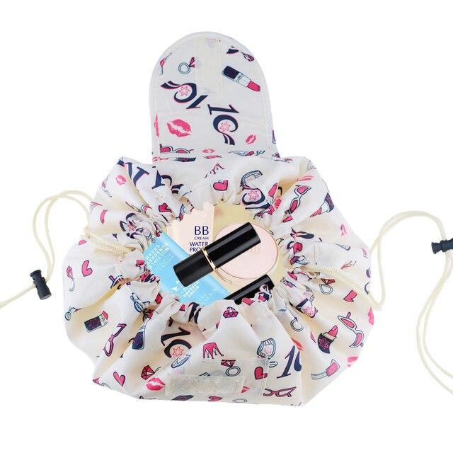 Flamingo cosmetics storage bag skincare women jewelry lipstick eye shadow brush drawstring bag family bathroom tissue supplies 2