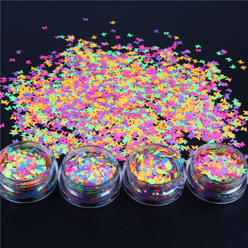 10ml/Jar Fluorescence Nail Paillette Flakes Fluorescent Hexagon Nails Glitter Sequins For Nail Body Art Decor Glow In The Dark image