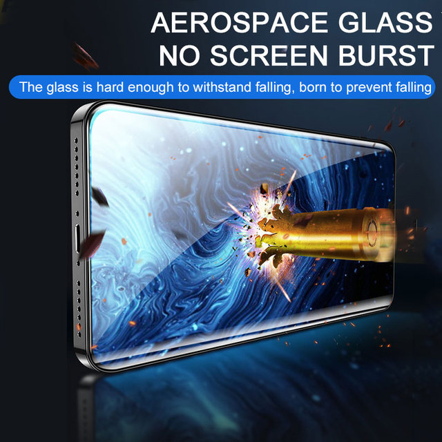 2PCS Full cover tempered protective glass on for iphone 12 mini 11 pro max iphone x xr xs max Curved Edge screen protector film 3