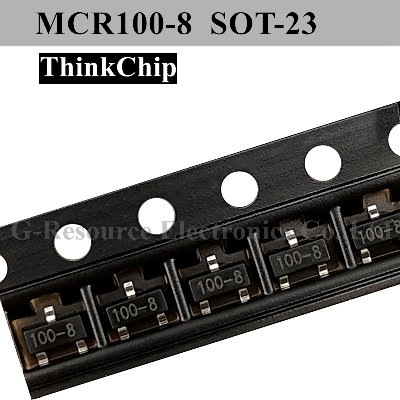 (20 Pcs) MCR100-8 SOT-23 MCR18 (Marking 100-8) SCR Rectifier Silicon Controlled Rectifiers Leakage Protector Special