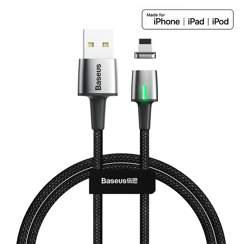 Fast magnetic usb charging cable for iPhone xs max xr x 8 7 6s plus 5 ipad pro Mobile phone charger cable 1m 2m 2.4A LED braided|Mobile Phone Cables| |  - AliExpress
