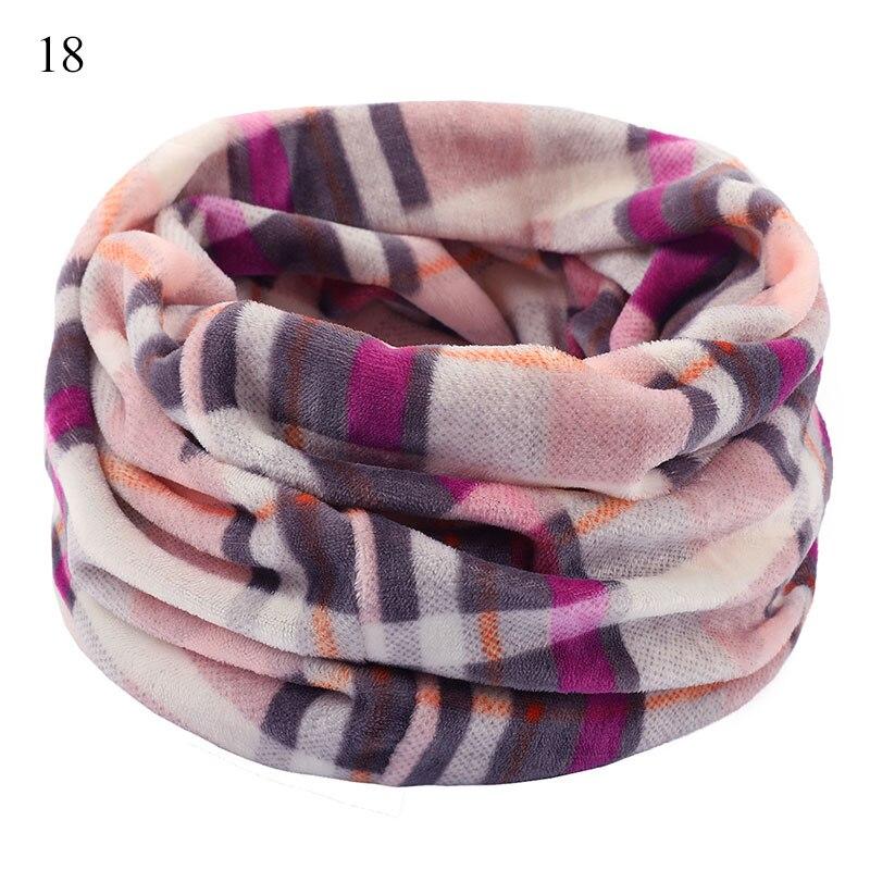 Bufanda de lana suave Unisex, doble capa, calentador de punto para el cuello Floral de color, bufanda para esquí al aire libre