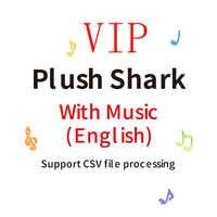 Bébé dessin animé requin doux requin poupée en peluche jouets maman requin papa requin chantant anglais chanson entière pendant 80 secondes
