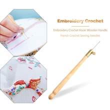 Crochet pour Tambour brodé 3 en 1, Crochet avec 3 aiguilles, Crochet français, cerceau de perles, Crochet artisanal de couture