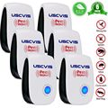 6 pcs Ultrasonic Pest Repeller Mosquito Killer Pest Control Electronic Repellent Mice Cockroach Flies Rodent US/UK/EU plug