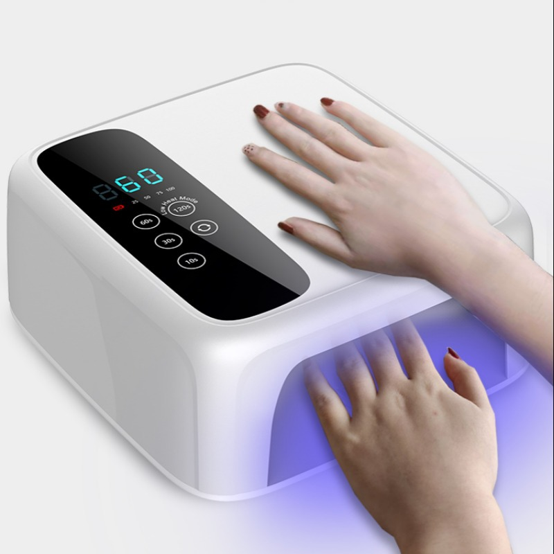 Battery manicure light therapy machine 72W high power household nail quick drying dryer manicure salon led induction light