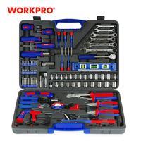 Promo Juego de Herramientas para el hogar utensilio doméstico WORKPRO 139 PC, juego de destornilladores, alicates, llaves inglesas