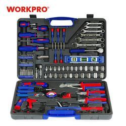 WORKPRO 139 шт. домашние Инструменты Набор инструментов для дома Отвертки Набор плоскогубцев гаечный ключ