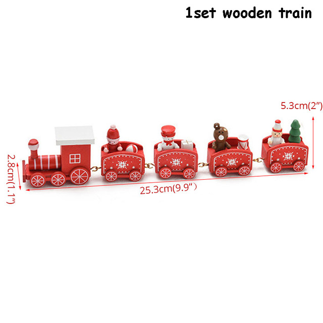 wooden train red