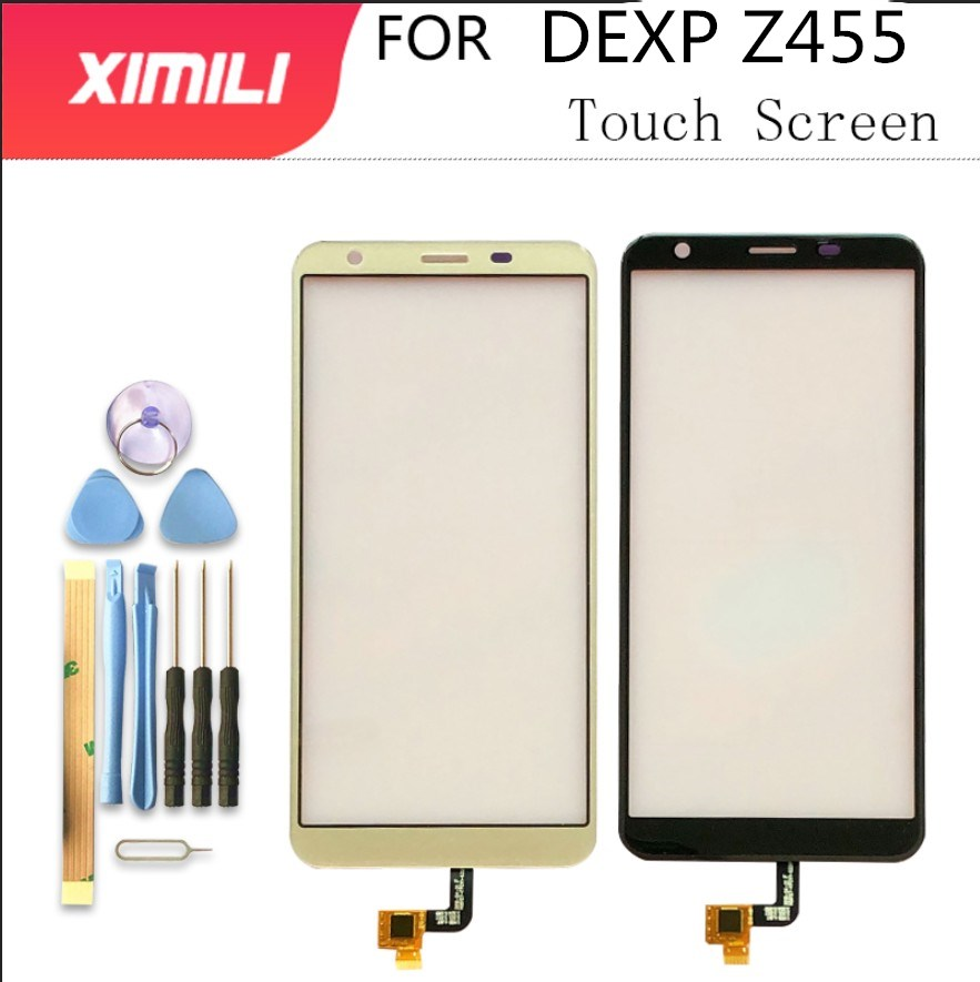 5.45 Inch For DEXP Z455 Touch Screen Digititer Sensor Touch Panel Glass With Tape Tools Black Gold Color