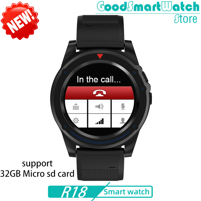 2020 R18 Phone Watch SIM TF Card Dial Call  HD Camera Music Video Player Message Reminder Men Sports Smartwatch Women PK GT08