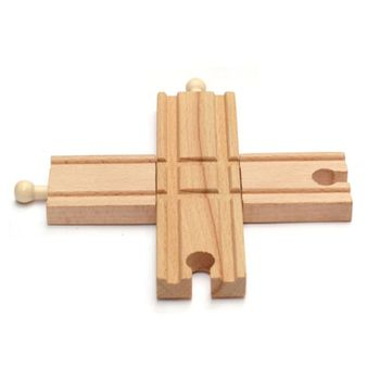 Wooden Train Track Accessories Cross Track Railway Toys Compatible All Track P31B фото