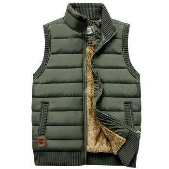 Padded sleeveless jacket with microfleece lining winter protection