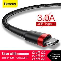 USB Type C кабель Baseus, зарядный кабель для Samsung S10 S9, Huawei P30, Xiaomi, быстрая зарядка 3.0