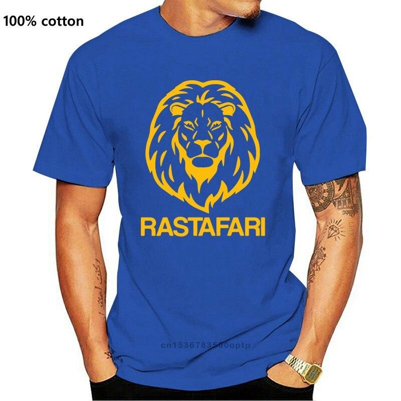 RASTAFARI LION T-SHIRT - VARIOUS SIZES + COLS ( Branded rasta jah Jamaica)